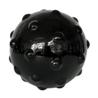 Monumental Obsidian Mine Sphere Sculpture For Sale