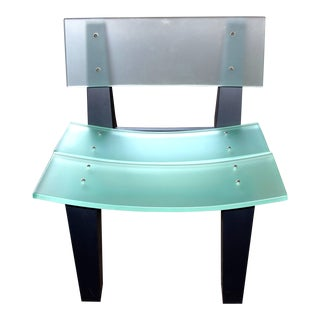 Rob Edley Welborn Prototype Lounge Chair in Plexiglass and Painted Wood For Sale