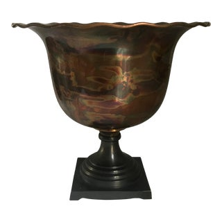 Japanese Mixed Metal, Copper and Bronze Urn For Sale