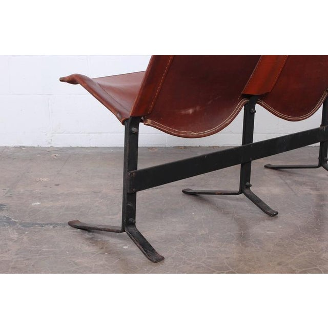 Leather Bench by Max Gottschalk For Sale In Dallas - Image 6 of 10