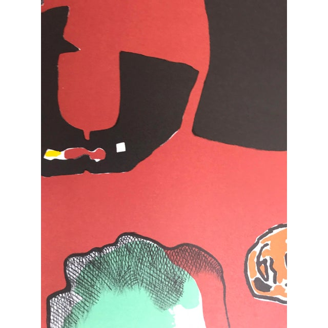 Abstract 1990s Jorge Castillo Joan Prats Gallery - Barcelona Lithograph Poster For Sale - Image 3 of 7