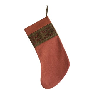 Handmade Custom Linen Christmas Stocking