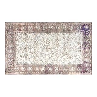 "1930s Cotton Agra Rug - 4'x6'8"" For Sale"