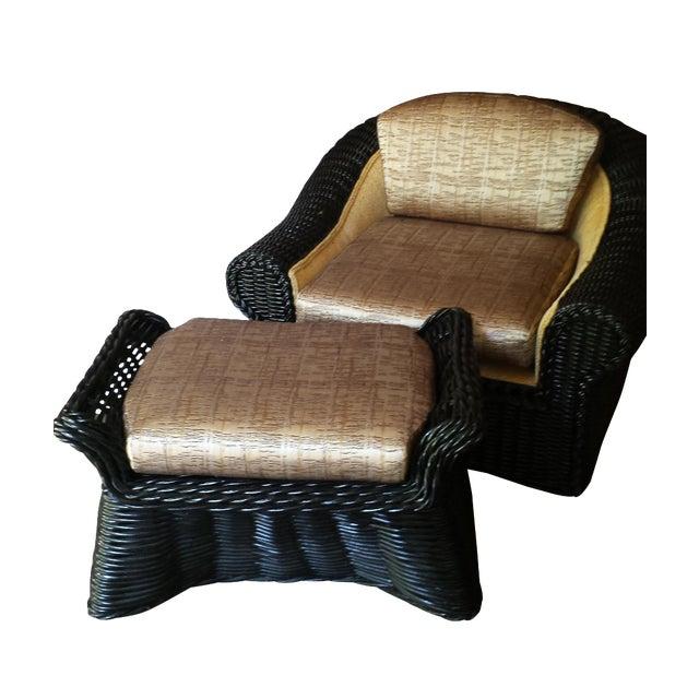 Casa Bella Chair and Ottoman For Sale