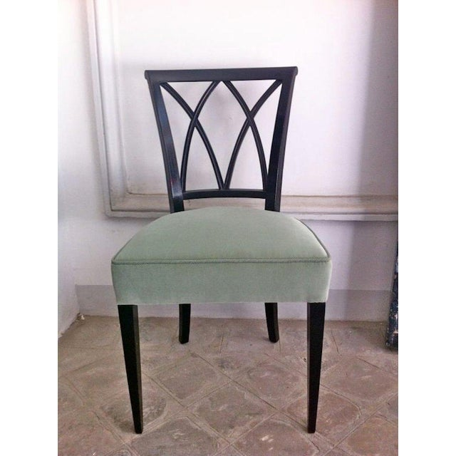 Art Deco Maurice Hirsch Exceptionnal 1940s Set of 12 Chairs Newly Upholstered For Sale - Image 3 of 7