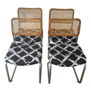 Woven Cesca Style Chairs - Set of 4