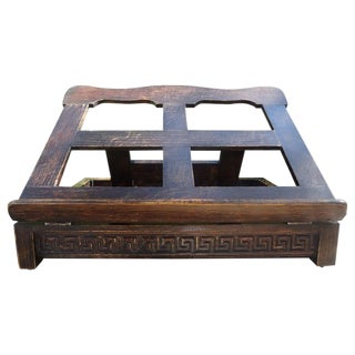 Continental Book Stand With Greek Key Design For Sale