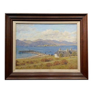 Henry Daniel - the House on the Lake - 1930s Impressionist Oil Painting For Sale