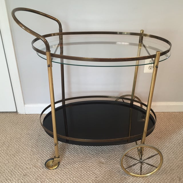 Hollywood Regency Two-Tiered Bar Cart - Image 3 of 4