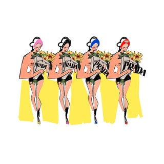 """Prada Fleurs and You"" Limited Edition Print by Annie Naranian For Sale"