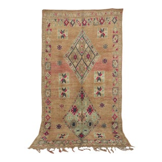 """Moroccan Boujad Rug, 6'9"""" X 12'2"""" / 207 X 370 CM For Sale"""