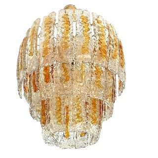 Mazzega Murano Chandelier Handblown 1970, 49 Pieces