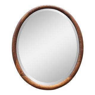 1909 Falconer Mirror With Wood Frame