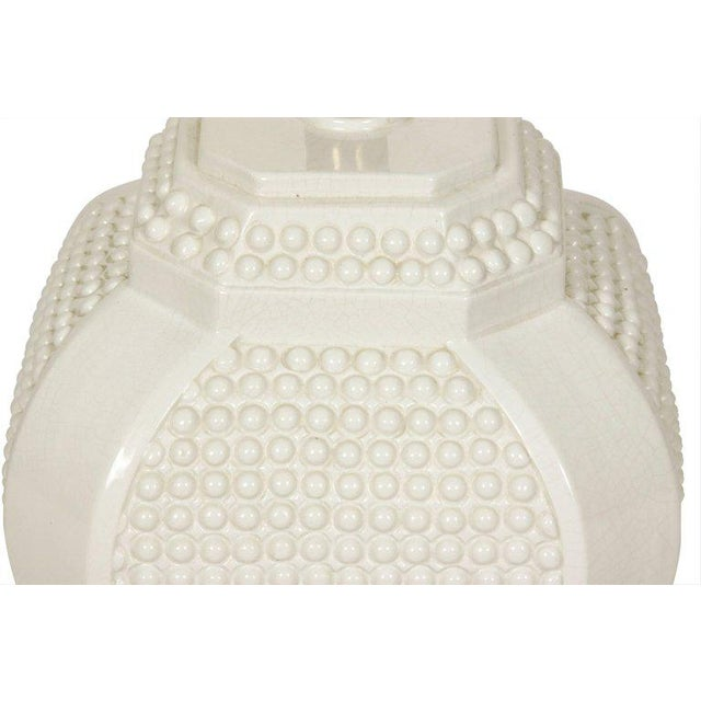 Pair of White Ceramic Lamps - Image 2 of 4