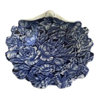 Vintage Blakeney Ironstone Staffordshire England Rose Shell Dish For Sale