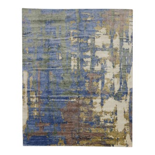 Modern Area Rug with Contemporary Abstract Style For Sale