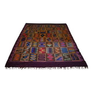"Contemporary Peruvian Rug / Blanket - 5′7″ × 7'1"" For Sale"
