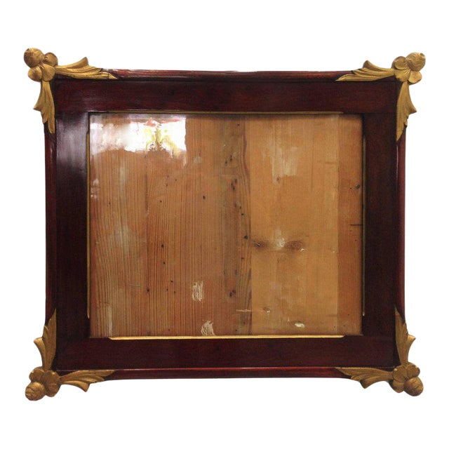 19th Empire Style Rectangular Frame with Bronze Mounts in the Corners - Image 1 of 7