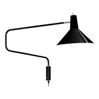 J.J.M. Hoogervorst Black Paperclip Wall Light for Anvia For Sale