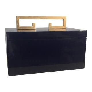 Large Indigo Blue Box