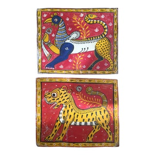Vintage Indian Textile Paintings For Sale