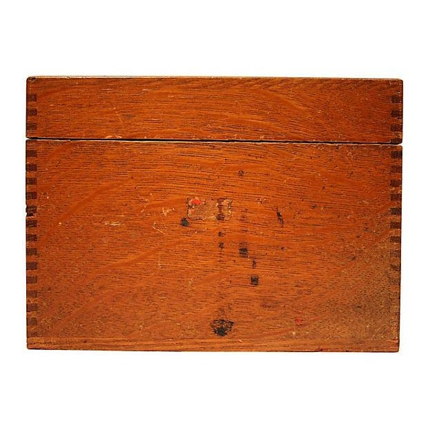 Antique Oak Storage Box - Image 2 of 7