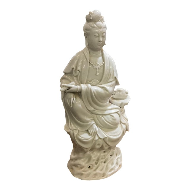 Mid 20th Century Chinese Blanc De Chine Figure For Sale