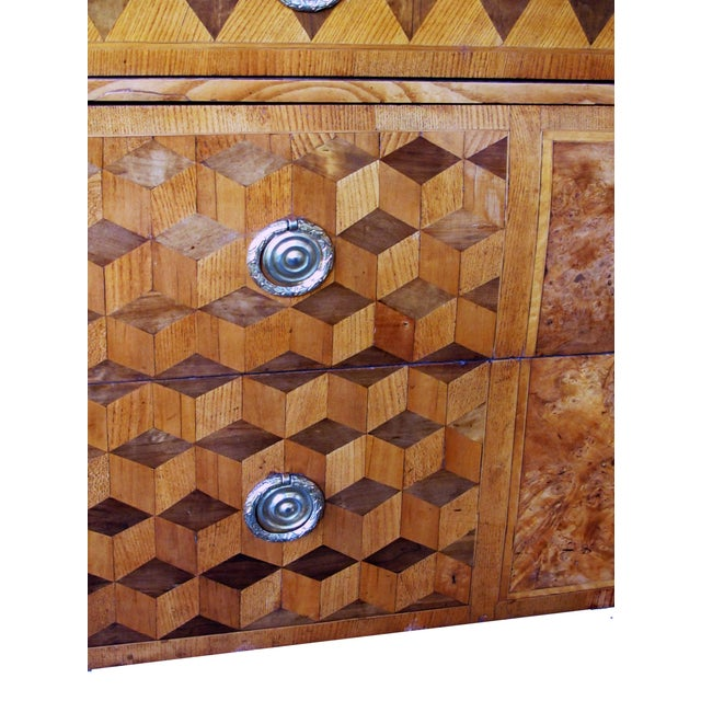 A Handsome Swedish Gustavian Alder Root Parquetry Chest For Sale In San Francisco - Image 6 of 7