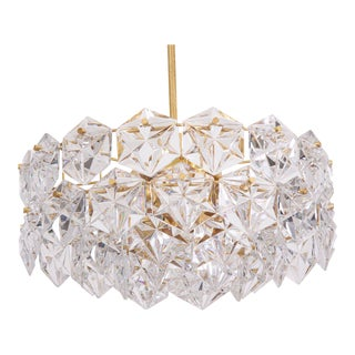 Four-Tier Crystal Glass Kinkeldey Chandelier For Sale
