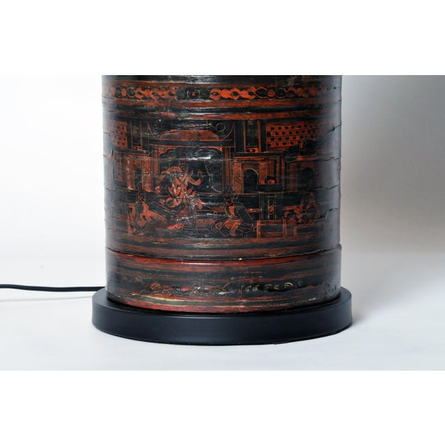 Brown Betel Nut Box Lamp For Sale - Image 8 of 11