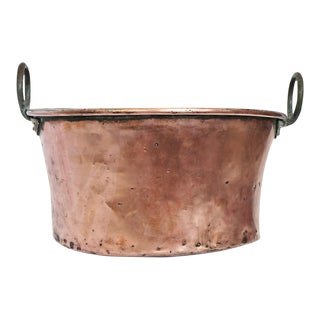 Antique French Copper Vessel For Sale