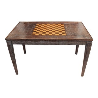 1940s French Cerused Oak Game Table For Sale