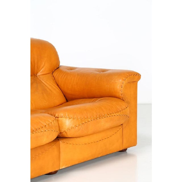 Mid-Century Modern DeSede Leather Sofa For Sale - Image 3 of 6