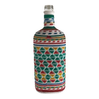 Boho Wrapped Bottle Vase For Sale