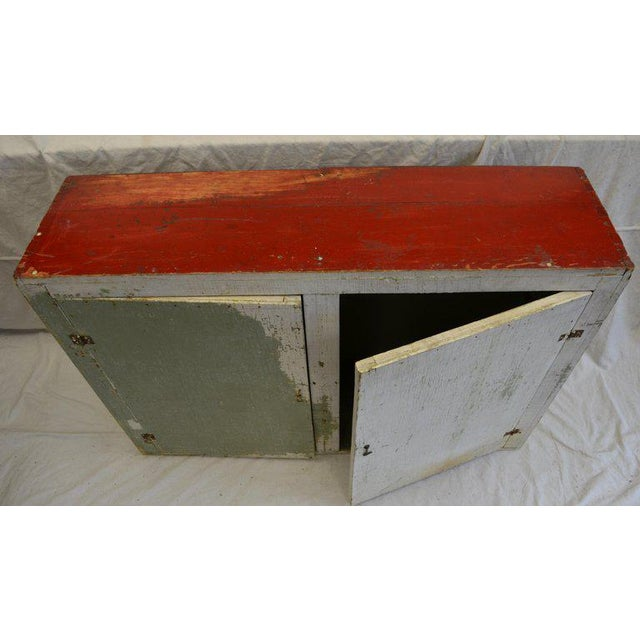 Paint Cupboard Freestanding From Mid-1900s for Hallway, Kitchen or Entranceway Storage For Sale - Image 7 of 12
