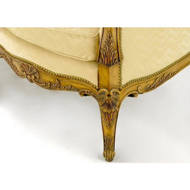 White Yale Burge Louis XV Wingback Settee For Sale - Image 8 of 9