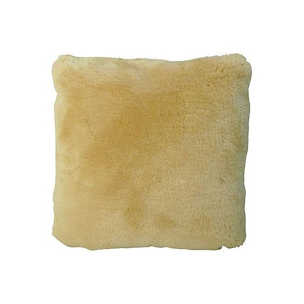 Golden Shearling Lambswool Pillow - Image 6 of 6