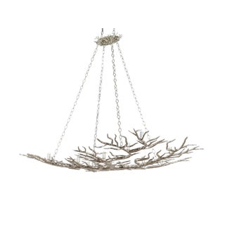 Large Forrest Silver Chandelier For Sale