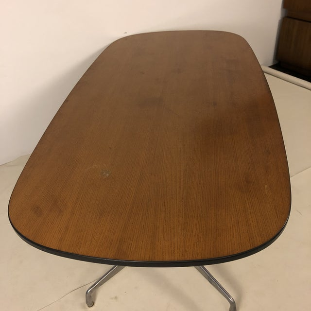 Metal Herman Miller Aluminum Group Conference Table by Charles Eames For Sale - Image 7 of 11