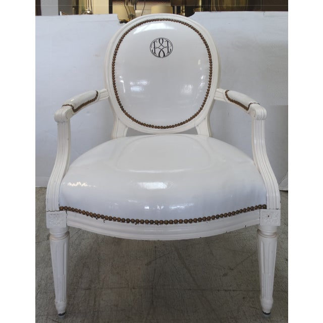 Antique Louis XVI Style Chairs - A Pair For Sale - Image 7 of 11