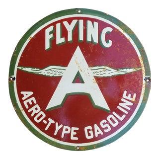 1940s Flying Enamel Oil Sign For Sale