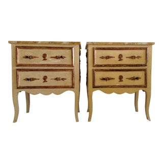 Italian Venetian Parcel Gilt Night Tables - a Pair For Sale