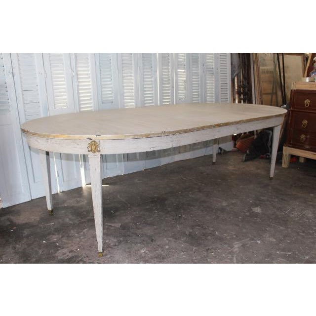 18th Century French Provincial Oval Dining Table For Sale - Image 4 of 8