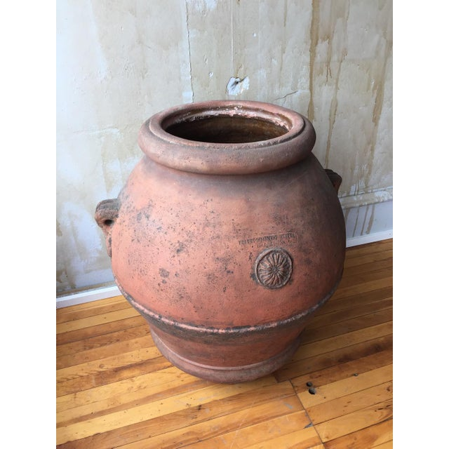 Orange Antique Italian Terra Cotta Oil Pot For Sale - Image 8 of 8