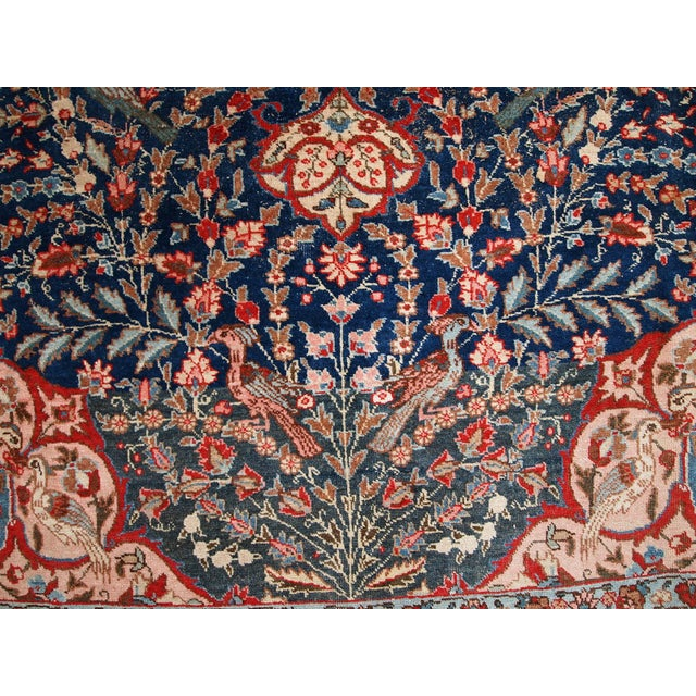 1920s Antique Persian Tabriz Rug- 6′4″ × 10′2″ For Sale - Image 4 of 10