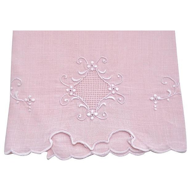 Peach Madeira Linen Hand Towel - Image 2 of 2