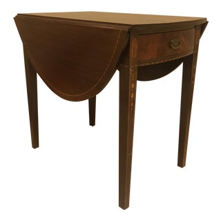 Early 20th Century Federal Mahogany One-Drawer Pembroke Side Table For Sale