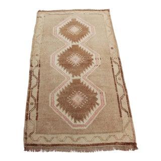 1960s Vintage Turkish Wool Rug - 1′7″ × 3′ For Sale