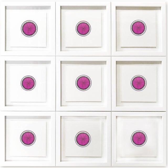 Natasha Mistry Minimalist Geometric Ink Drawings - Set of 9 For Sale