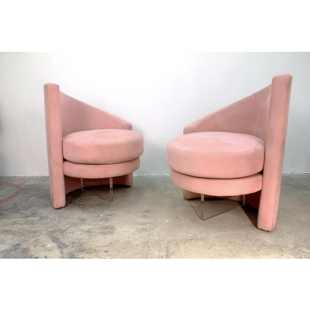 1970s Last Markdown 1970s Vintage Vladimir Kagan Style Chairs- a Pair For Sale - Image 5 of 5